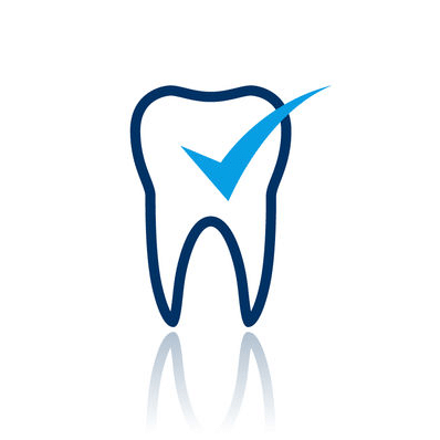 Tooth Icon with a tick on it representing dental extractions